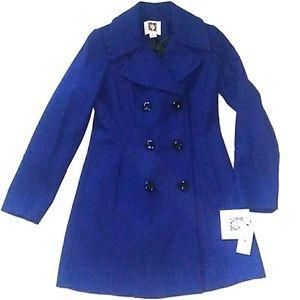 NWT Anne Klein Blue Wool Blend Coat BRAND NEW